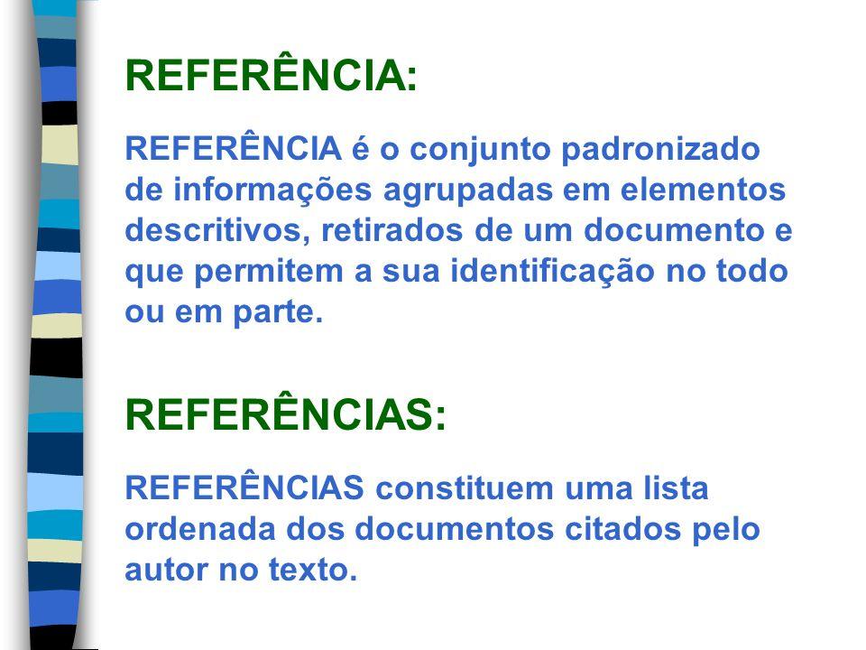 REFERÊNCIA: