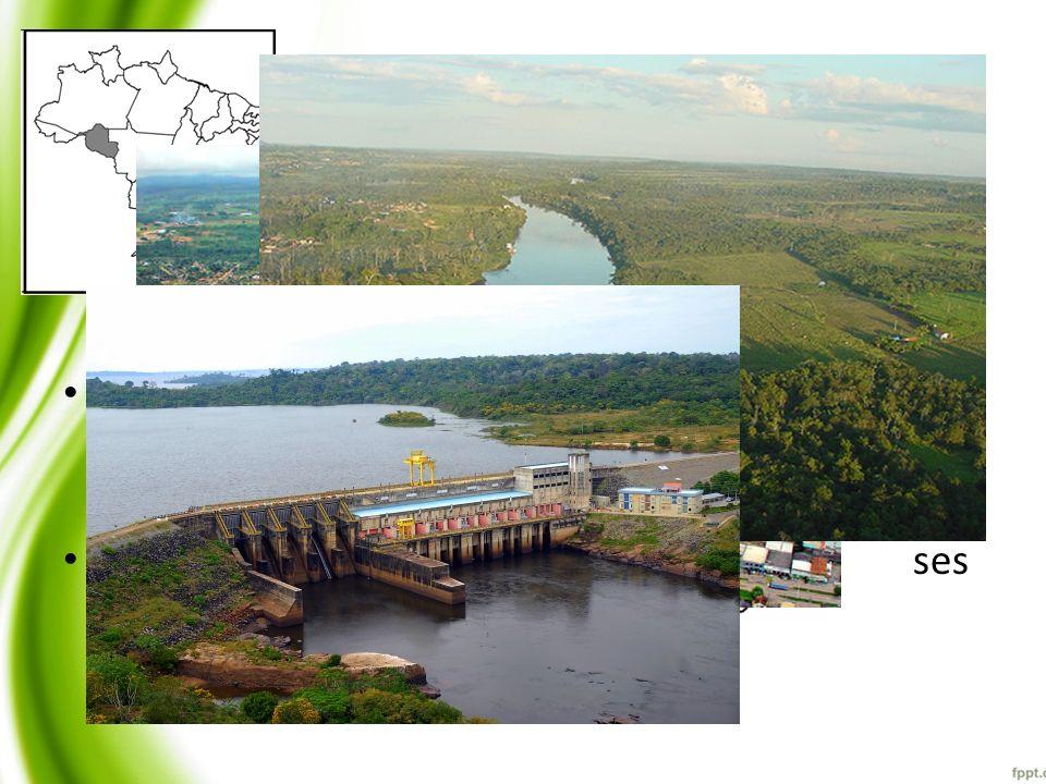 Bacía do Rio Machado Maior bacia de Rondônia com 75838,3162Km2;