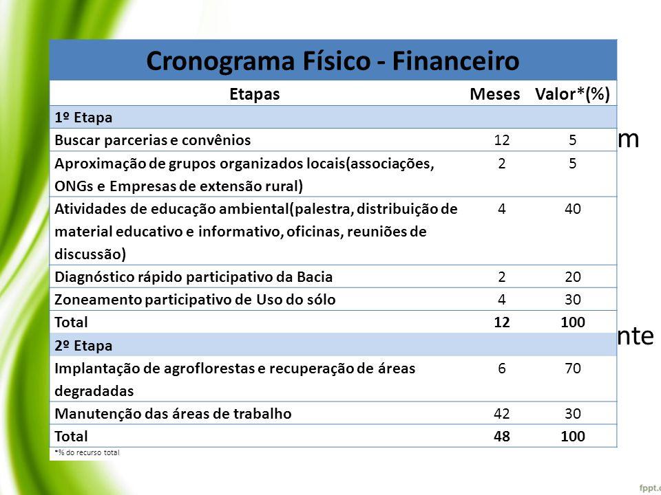 Cronograma Físico - Financeiro