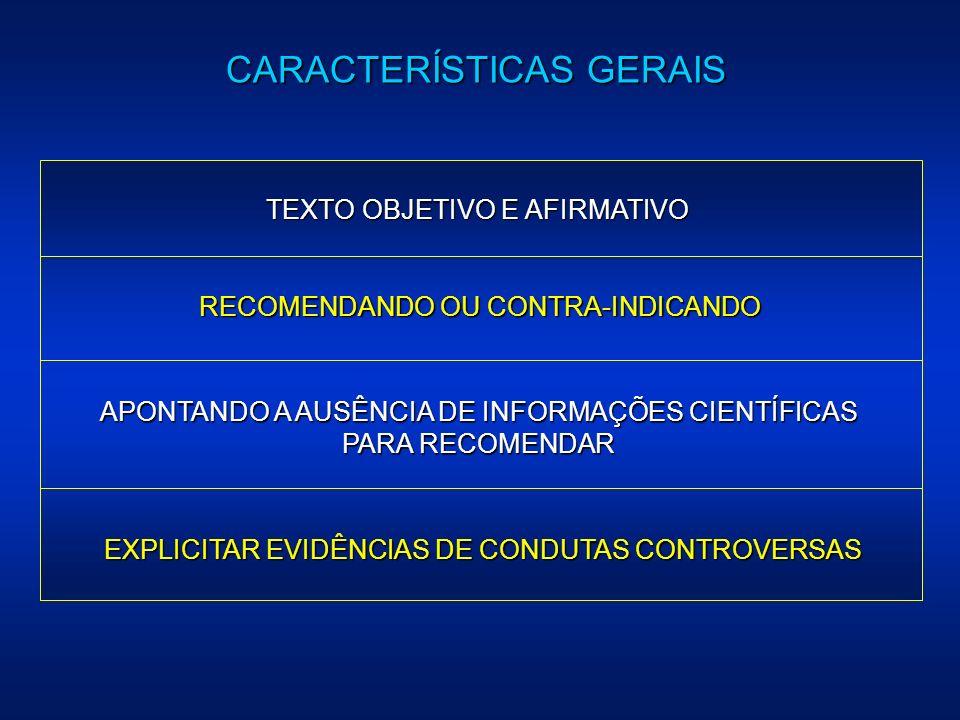 APONTANDO A AUSÊNCIA DE INFORMAÇÕES CIENTÍFICAS