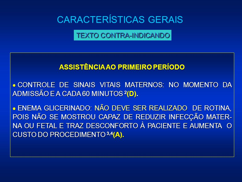 ASSISTÊNCIA AO PRIMEIRO PERÍODO