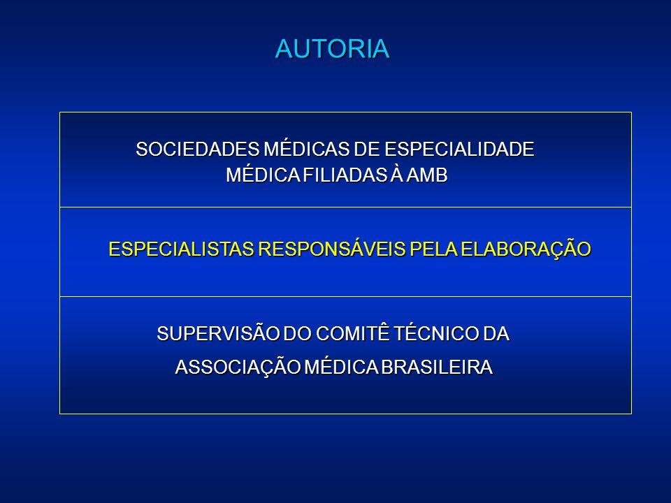 AUTORIA SOCIEDADES MÉDICAS DE ESPECIALIDADE MÉDICA FILIADAS À AMB