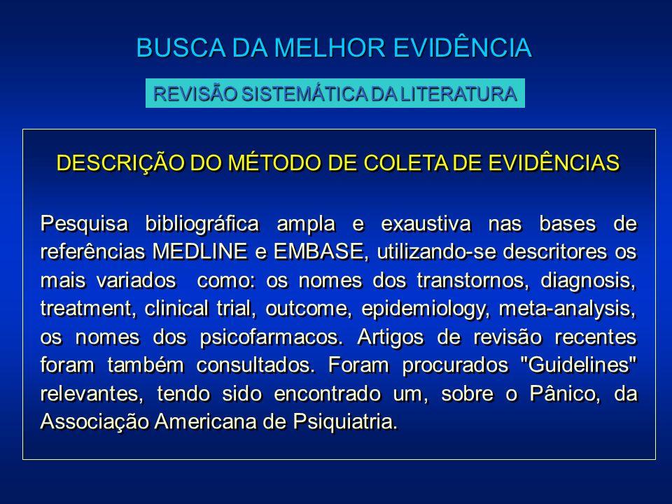 DESCRIÇÃO DO MÉTODO DE COLETA DE EVIDÊNCIAS