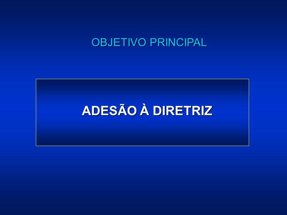 OBJETIVO PRINCIPAL ADESÃO À DIRETRIZ