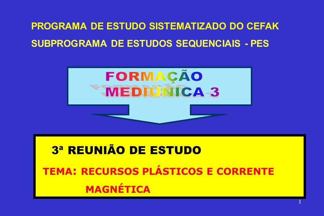 FORMAÇÃO MEDIÚNICA 3 3ª REUNIÃO DE ESTUDO