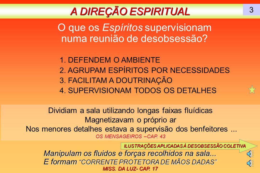 O que os Espíritos supervisionam numa reunião de desobsessão