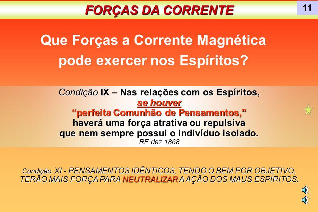 Que Forças a Corrente Magnética pode exercer nos Espíritos