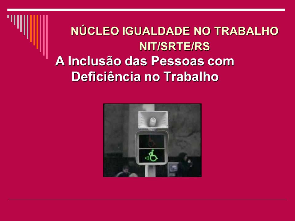 NÚCLEO IGUALDADE NO TRABALHO NIT/SRTE/RS