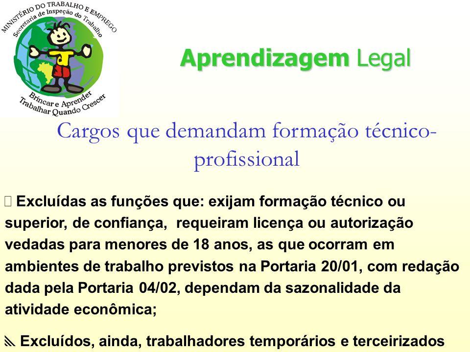 Cargos que demandam formação técnico-profissional