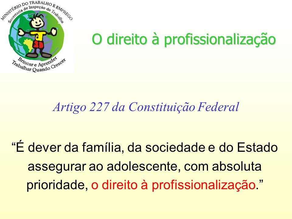 O direito à profissionalização