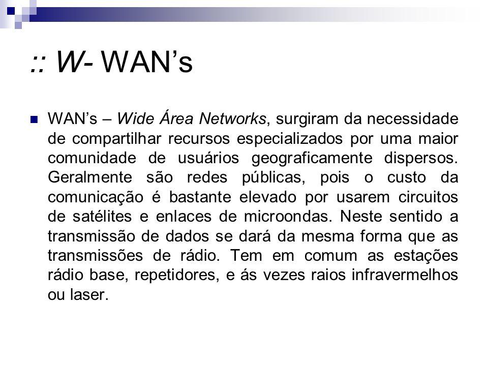 :: W- WAN's
