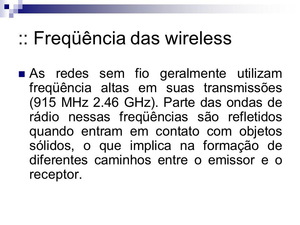 :: Freqüência das wireless