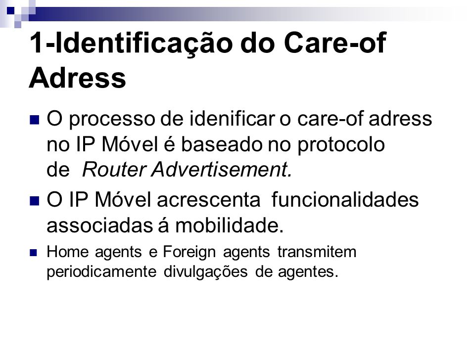 1-Identificação do Care-of Adress