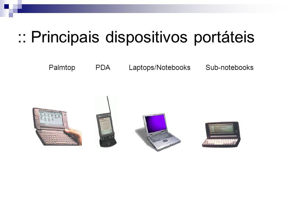 :: Principais dispositivos portáteis