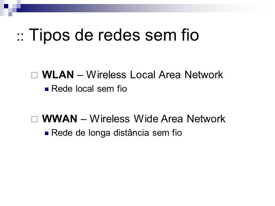 :: Tipos de redes sem fio