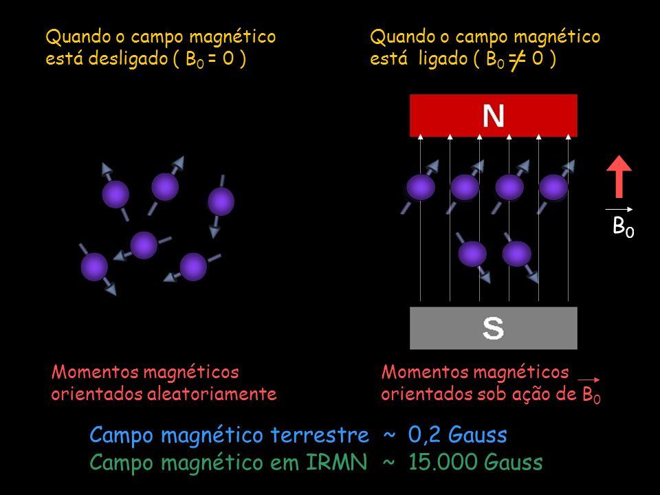 Campo magnético terrestre ~ 0,2 Gauss