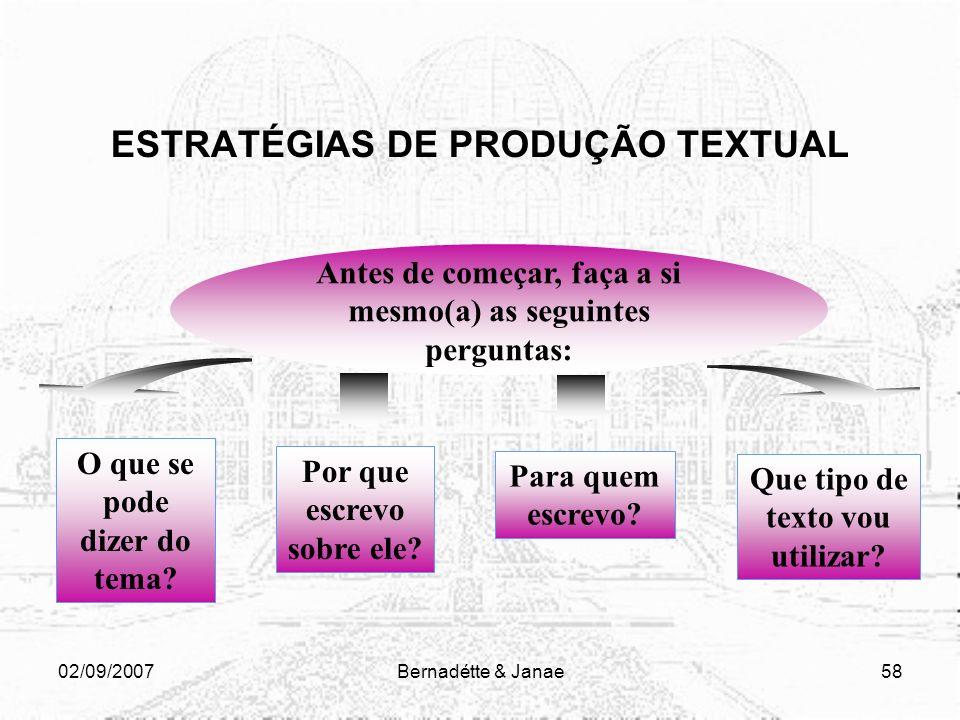ESTRATÉGIAS DE PRODUÇÃO TEXTUAL