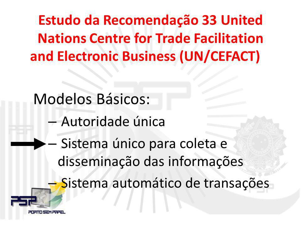 Estudo da Recomendação 33 United Nations Centre for Trade Facilitation and Electronic Business (UN/CEFACT)