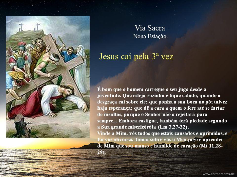 Jesus cai pela 3ª vez Via Sacra Nona Estação