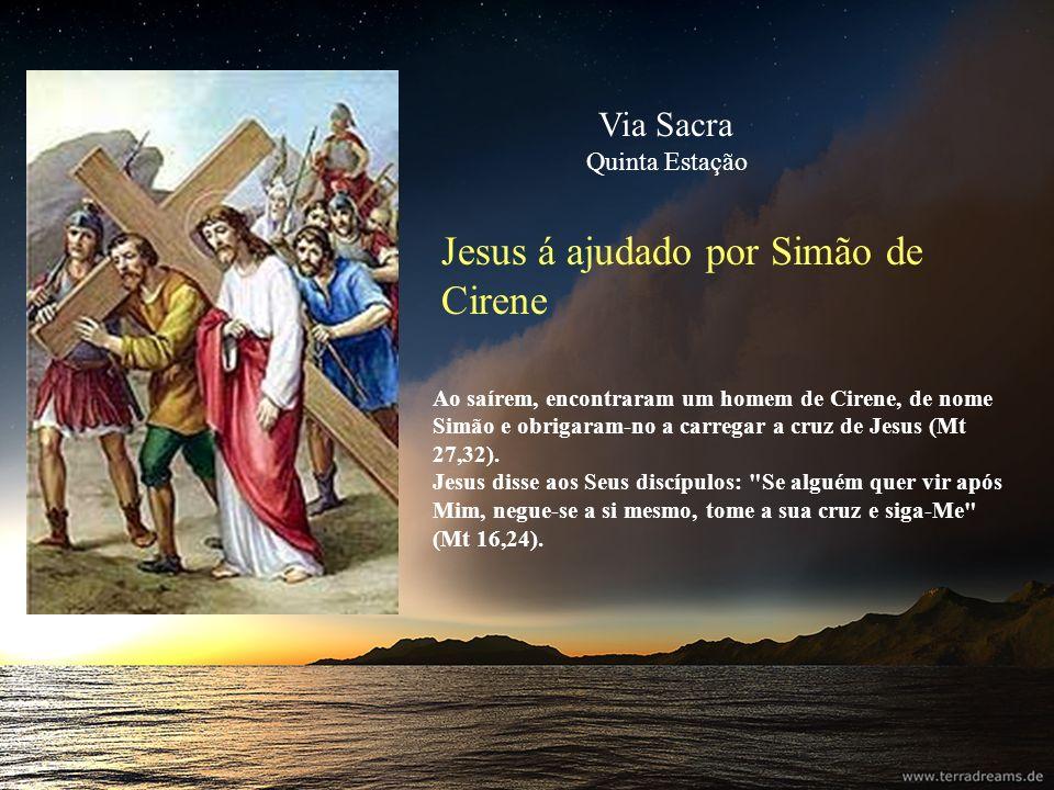 Jesus á ajudado por Simão de Cirene