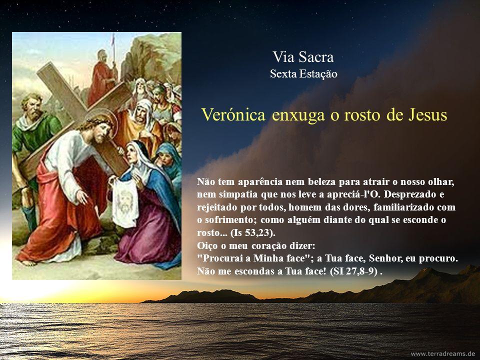 Verónica enxuga o rosto de Jesus