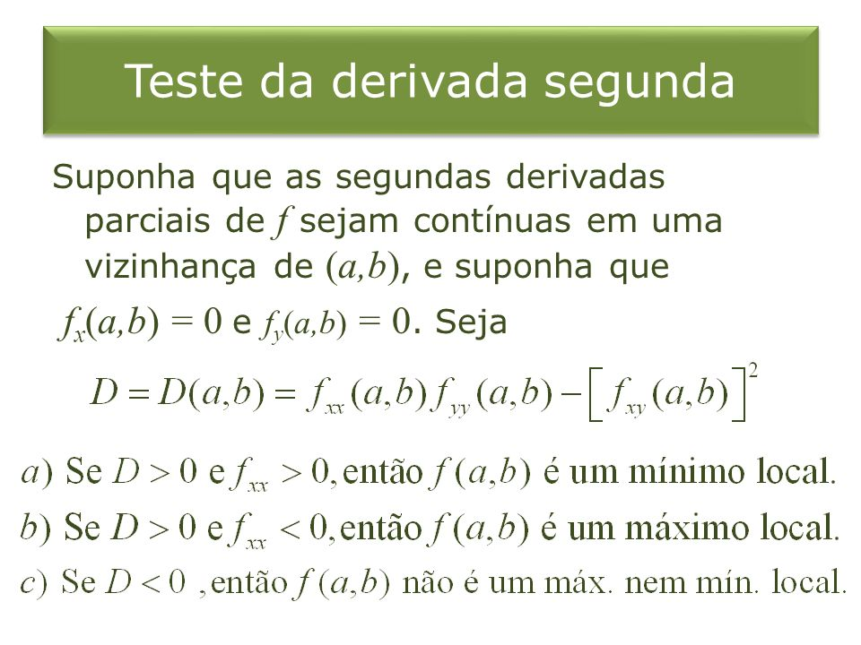 Teste da derivada segunda