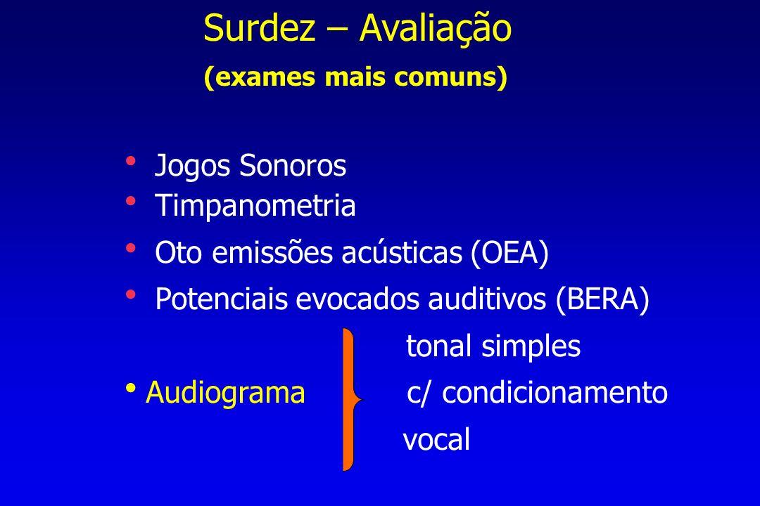 Surdez – Avaliação (exames mais comuns)  Jogos Sonoros