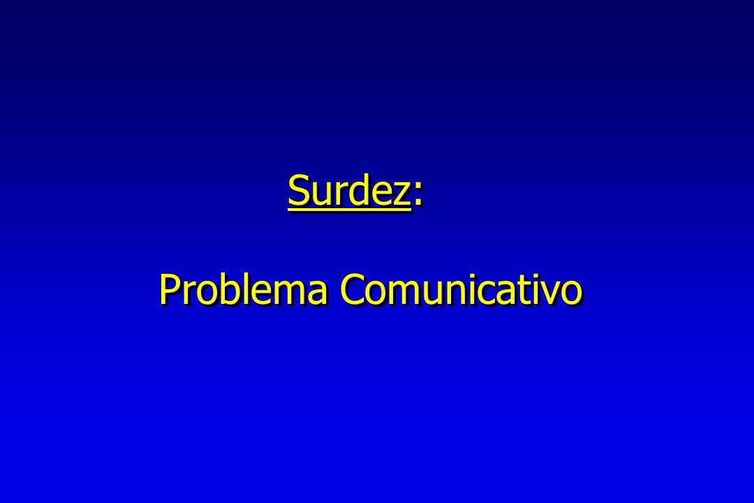 Surdez: Problema Comunicativo