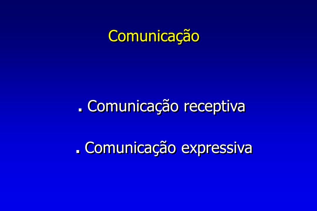 Comunicação . Comunicação receptiva . Comunicação expressiva