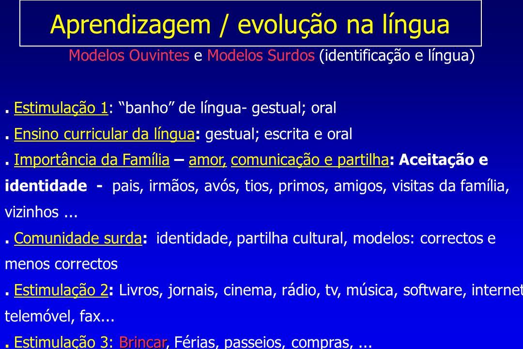 Aprendizagem / evolução na língua