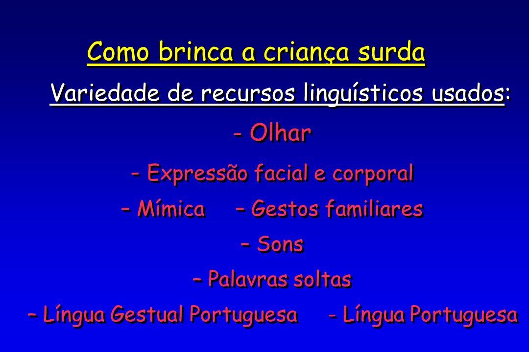 Variedade de recursos linguísticos usados: Olhar