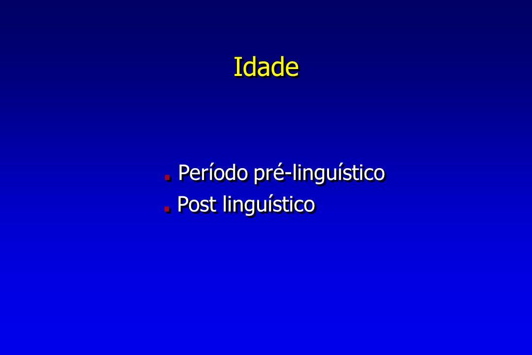 . Período pré-linguístico