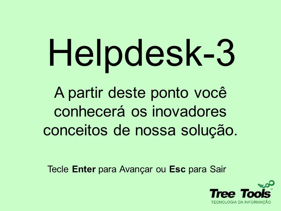 Helpdesk-3 A partir deste ponto você conhecerá os inovadores conceitos de nossa solução.