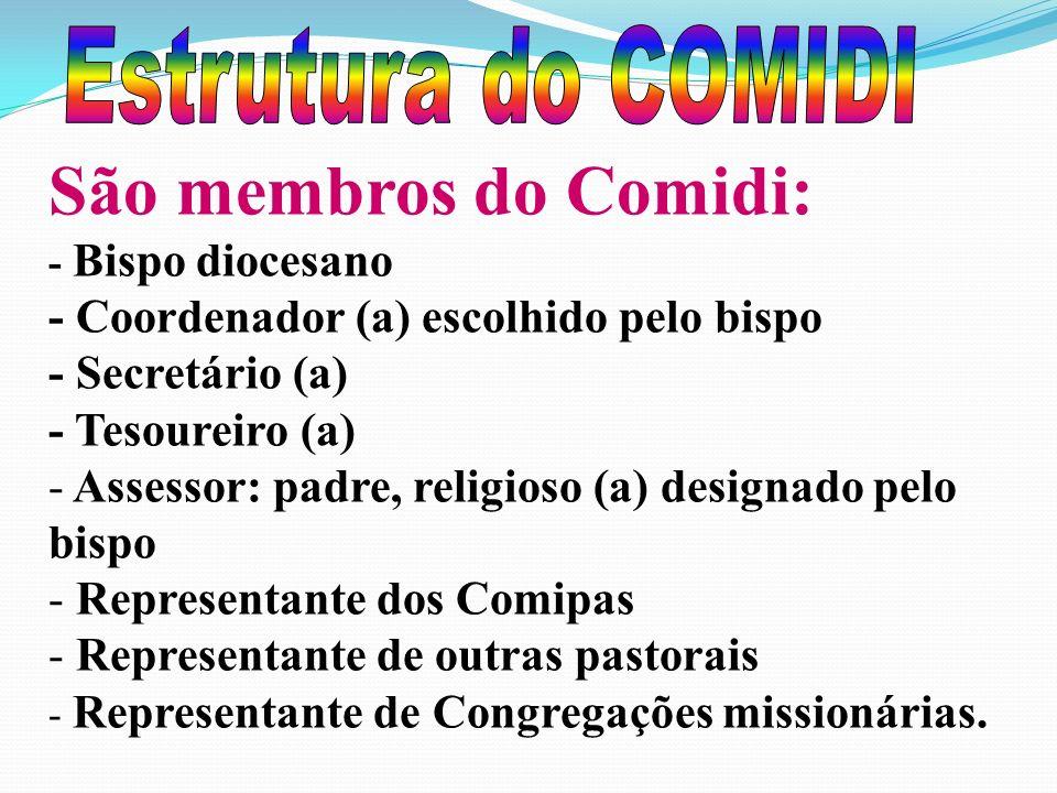 São membros do Comidi: Estrutura do COMIDI