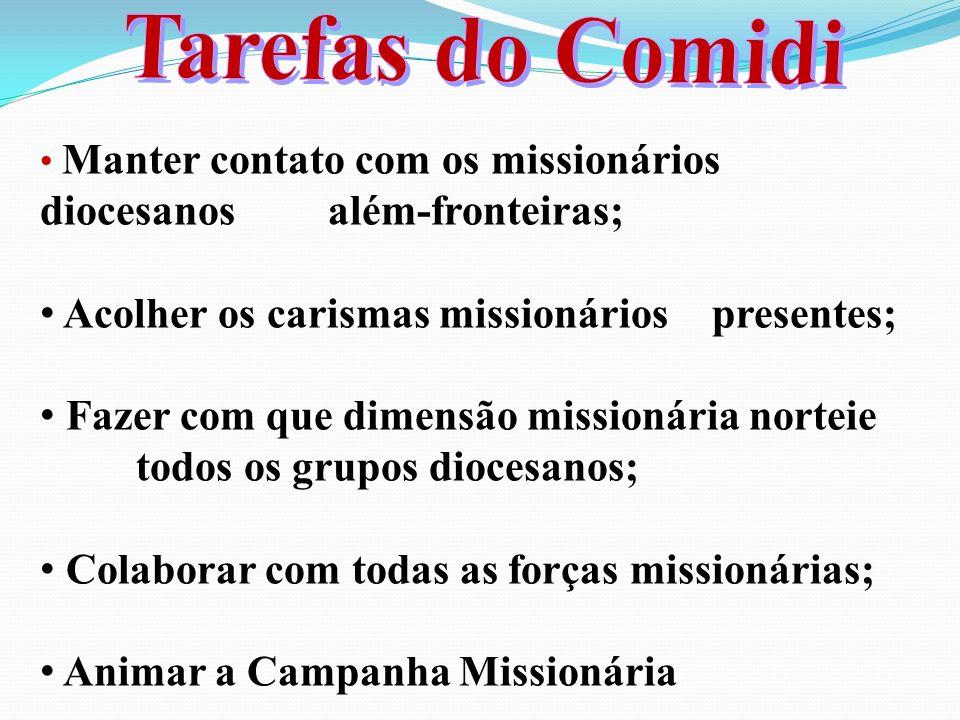 Tarefas do Comidi diocesanos além-fronteiras;