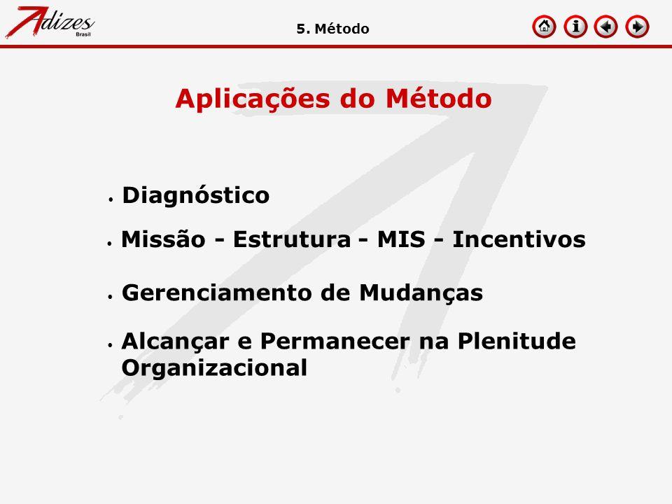 Aplicações do Método Diagnóstico Missão - Estrutura - MIS - Incentivos