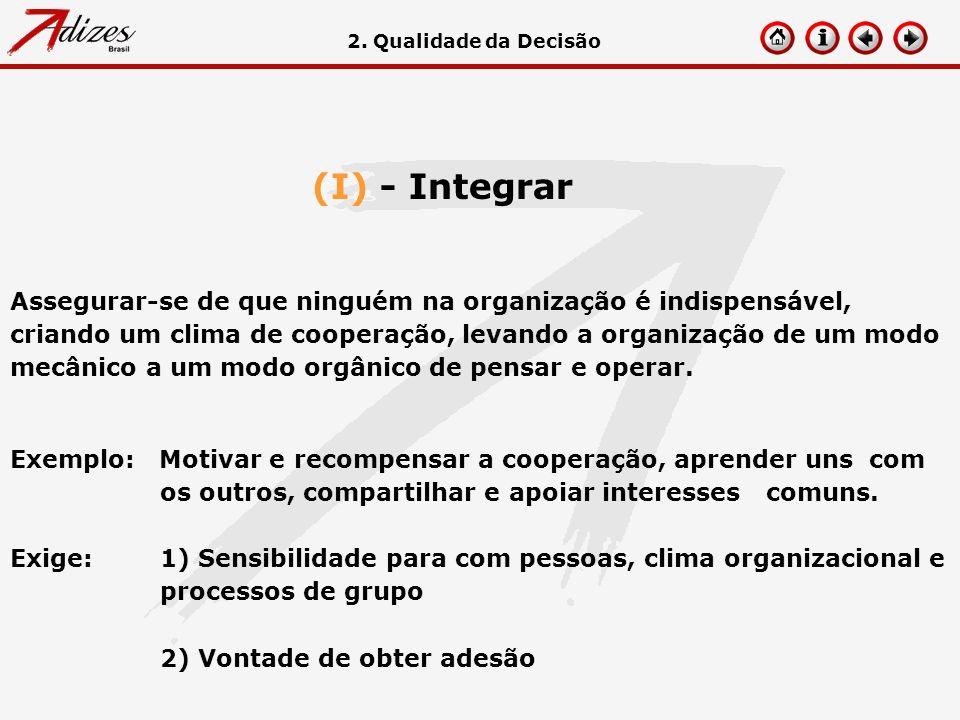2. Qualidade da Decisão (I) - Integrar.