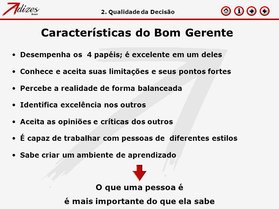 Características do Bom Gerente
