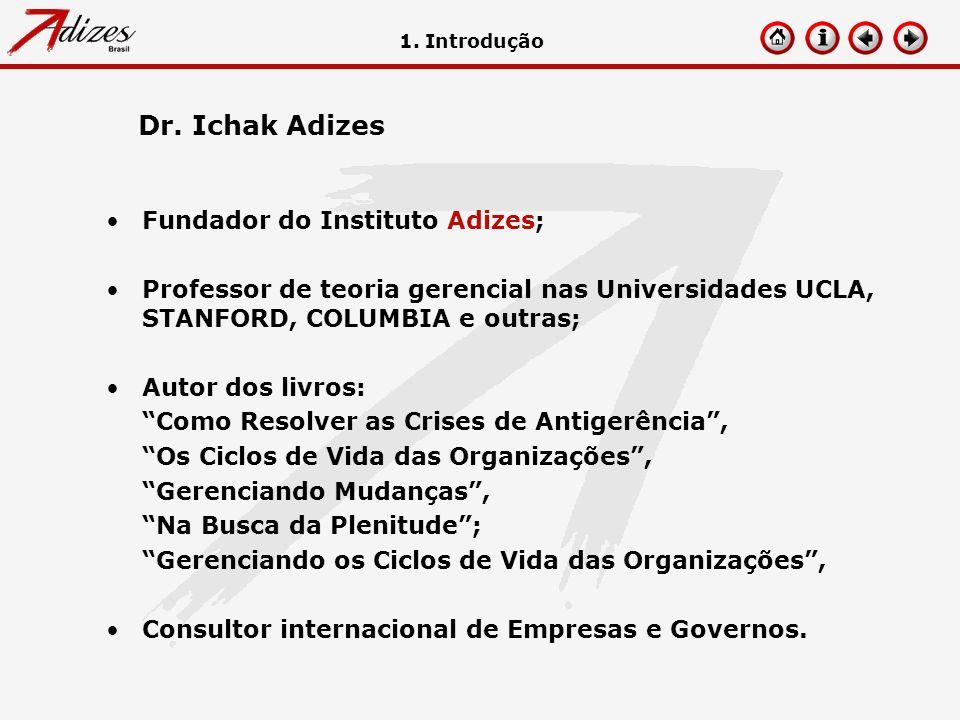 Dr. Ichak Adizes Fundador do Instituto Adizes;