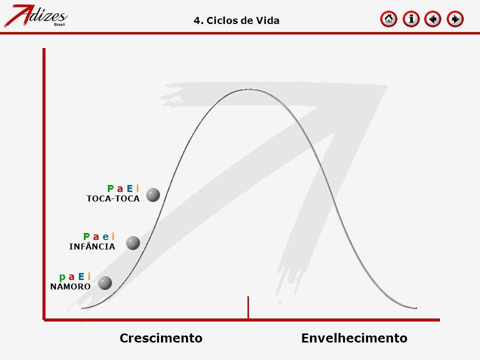 Crescimento Envelhecimento 4. Ciclos de Vida P a E i P a e i p a E i