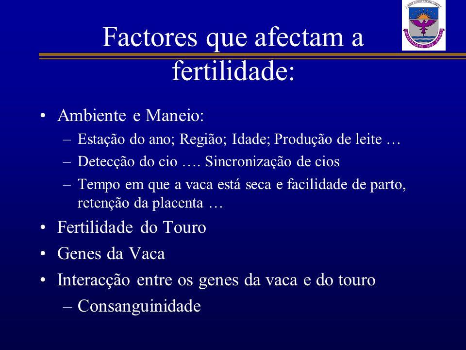 Factores que afectam a fertilidade:
