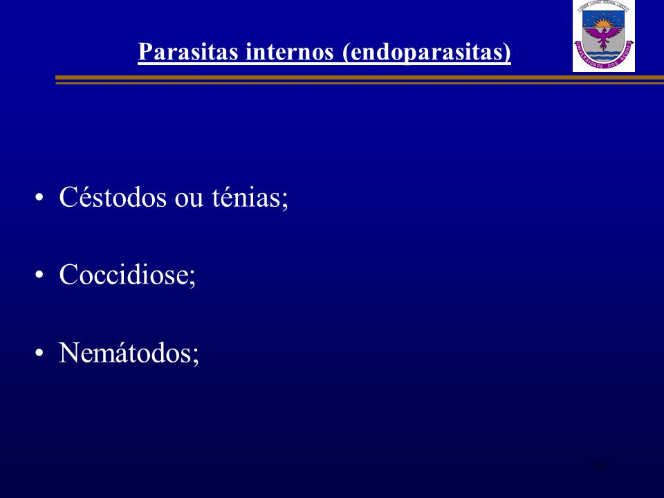 Parasitas internos (endoparasitas)