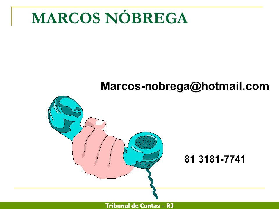 MARCOS NÓBREGA Marcos-nobrega@hotmail.com 81 3181-7741