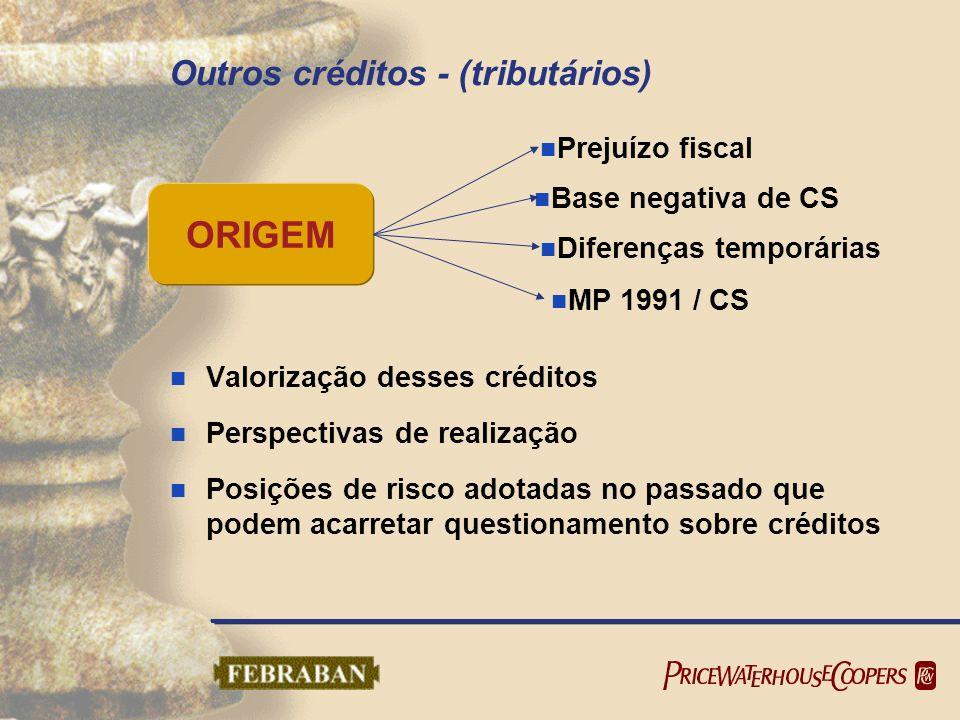 Outros créditos - (tributários)