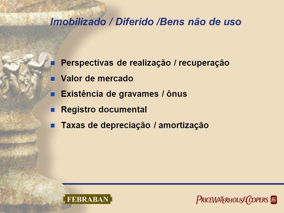 Imobilizado / Diferido /Bens não de uso