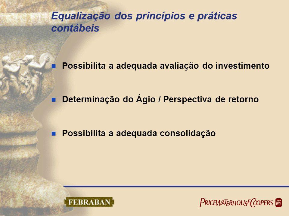 Equalização dos princípios e práticas contábeis