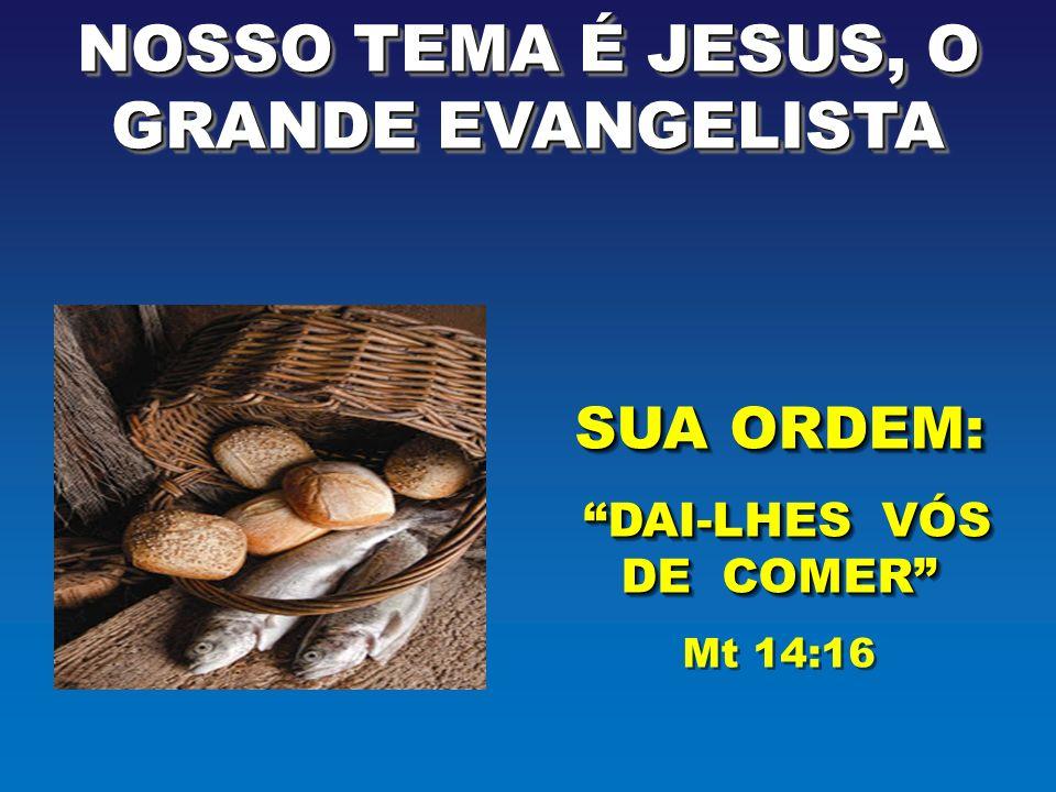 NOSSO TEMA É JESUS, O GRANDE EVANGELISTA