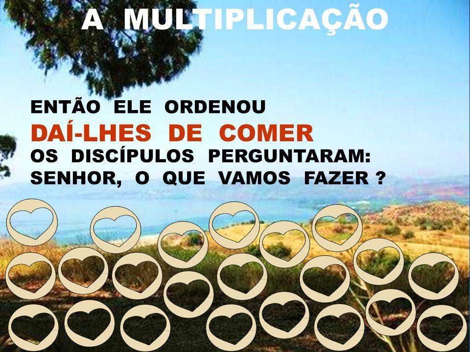 A MULTIPLICAÇÃO DAÍ-LHES DE COMER ENTÃO ELE ORDENOU