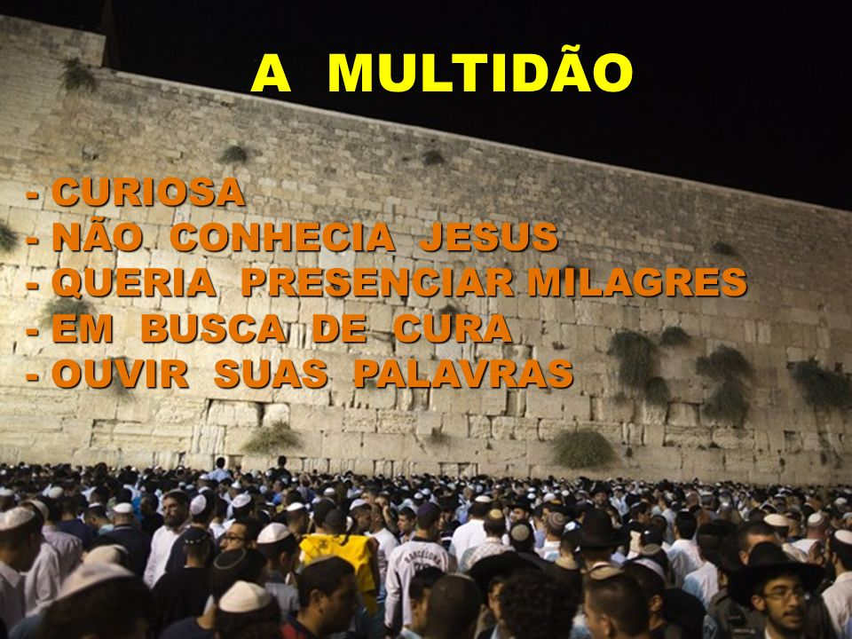 A MULTIDÃO - CURIOSA - NÃO CONHECIA JESUS - QUERIA PRESENCIAR MILAGRES