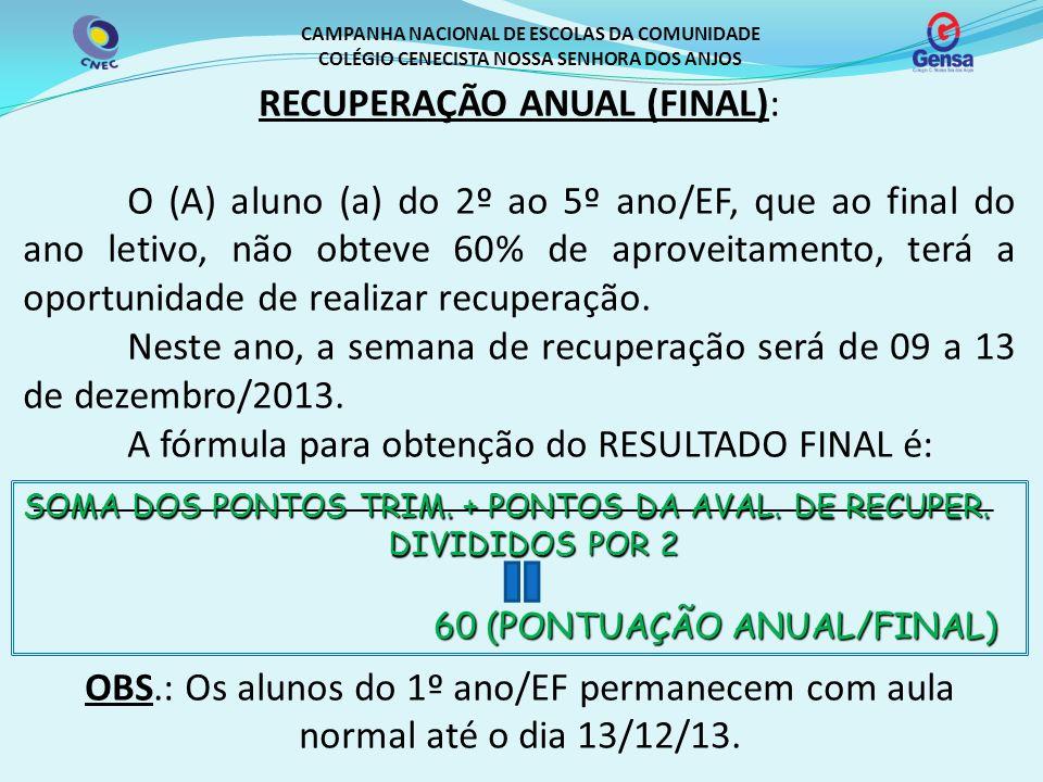 RECUPERAÇÃO ANUAL (FINAL):